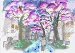 東京都市大学が3月24日~4月8日まで「都立大学駅前・桜並木ライトアップ~桜と川と街の物語~」を企画・制作 -- ぼんぼり光環境計画株式会社・Hortaと連携