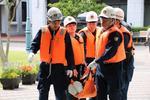 摂南大学が枚方キャンパスで災害を想定した約400人の大規模訓練を実施
