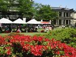 清泉女子大学が4月21日にガーデンパーティーを開催し新入生を歓迎 -- 新茶と菓子のセットや物産販売など鹿児島県とのコラボも展開