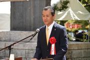 記念式典(小坂喬峰 恵那市長)画像.jpg