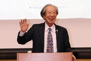 文化勲章受章者の甘利俊一博士が2月13日、日本学園中学校・高等学校に登壇 -- 同校の生徒を対象に記念講演「人工知能と社会」を開催、母校の思い出も語る