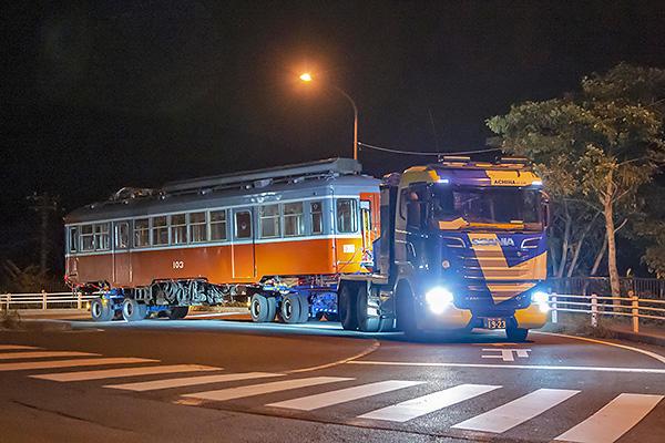箱根登山鉄道より寄贈された車両 お披露目式開催