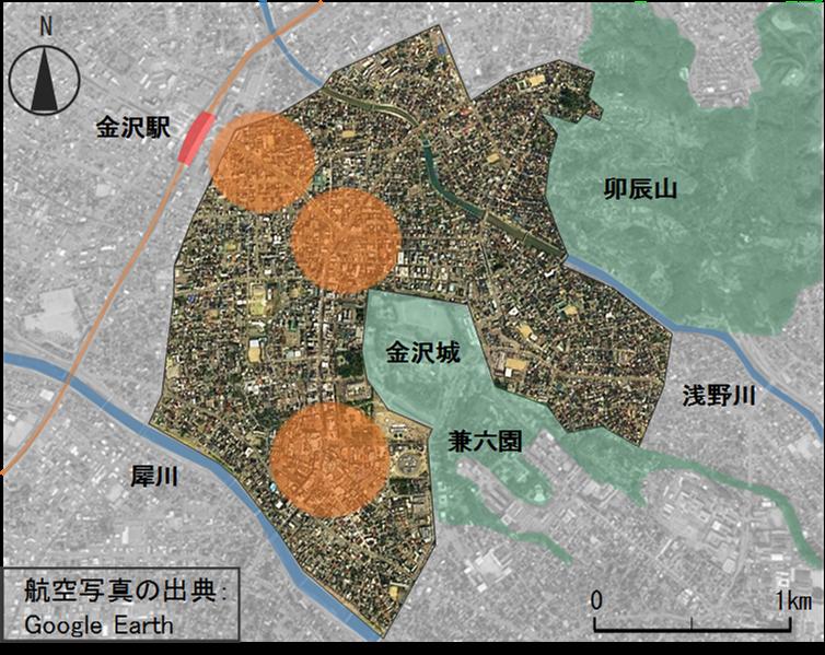 金沢市の担当者や都市計画の専門家が参加。建築学科円井研究室が「都市環境気候を考慮したまちづくりワークショップ(金沢の将来像を描く)」を開催。