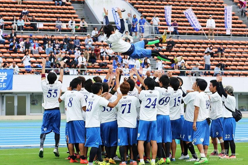 びわこ成蹊スポーツ大学アルティメット部「レイカーズ」が「第27回全日本大学アルティメット選手権大会」で優勝 -- 初の全国制覇