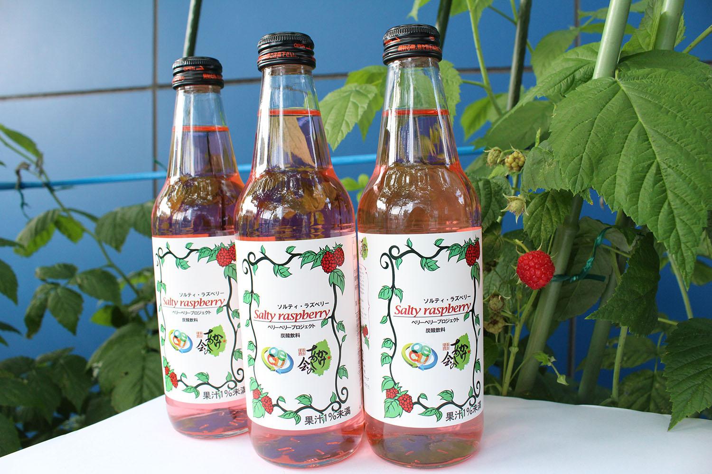 大阪電気通信大学の学生プロジェクトと東日本大震災復興支援会社が共同開発した炭酸飲料「ソルティ・ラズベリー」を今年も販売