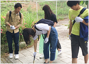 豊島区、中野区および市原市の清掃活動に参加 -- 帝京平成大学