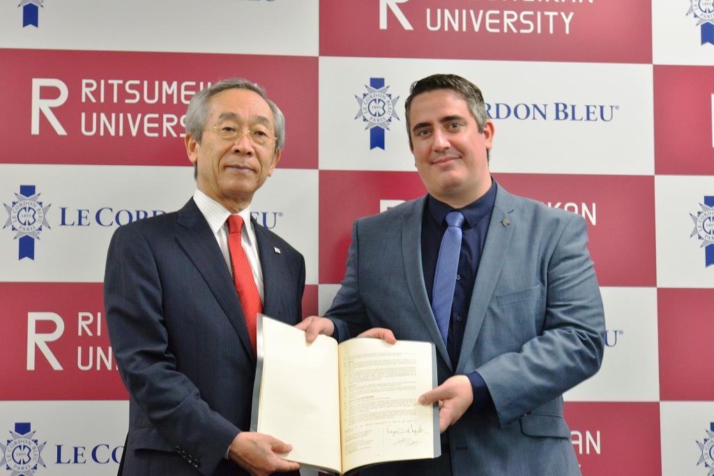 【日本初】学校法人立命館とル・コルドン・ブルーが共同プログラム実施のための教学提携協定を締結 ~「食マネジメント学部」で世界標準の学びを展開~
