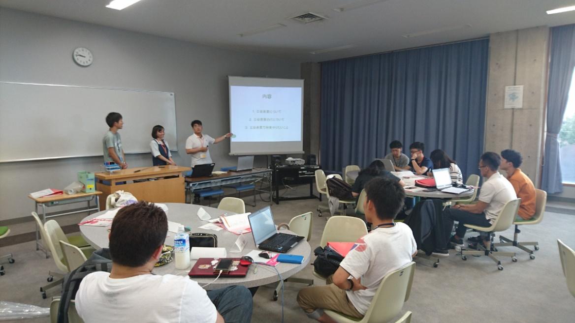 金沢工業大学の学生と越日工業大学の学生がペア(バディ制度)でインターンシップを行う