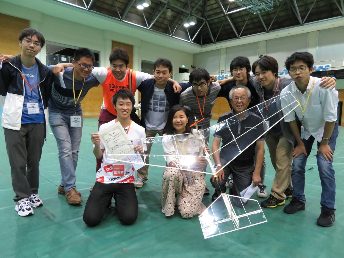 金沢工業大学夢考房小型無人飛行機プロジェクトが2連覇 -- 日本航空宇宙学会主催「第13回全日本学生室内飛行ロボコン」自動操縦部門