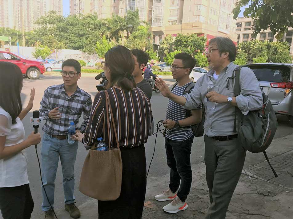 江戸川大学マス・コミュニケーション学科の隈本邦彦教授が、ベトナム国営放送局職員に気象災害報道研修を実施 -- JICAの事業に協力