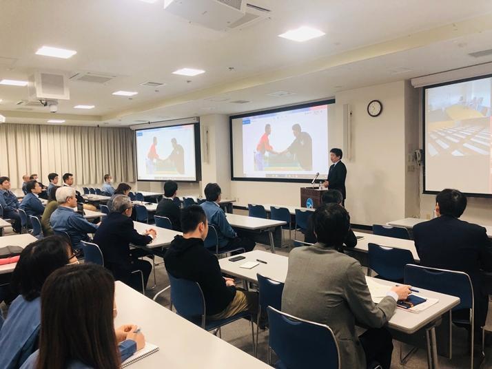 江戸川大学広報室長の広岡勲教授が海洋研究開発機構で組織の危機管理広報について特別講演を実施