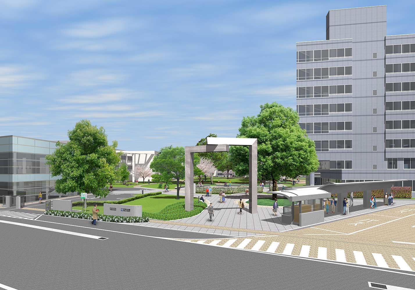 江戸川大学駒木キャンパスがリニューアル -- 開学30周年を迎える2020年5月に完成予定