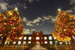 立教大学のクリスマスイベント――チャペル前に巨大クリスマスツリーが出現、チャペルコンサートやメサイア演奏会、キャロリングなども