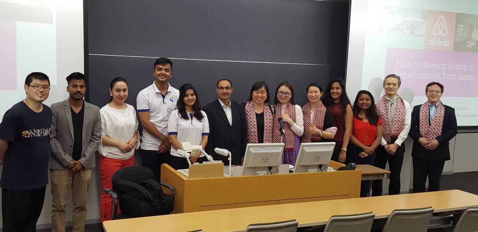 東洋学園大学大学院とネパール・キングス・カレッジが双方交流型の合同リサーチプロジェクトを実施