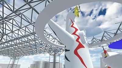 日本工業大学の学生による「VR太陽の塔」-- 今年は巨大地下空間も再現し11/21(土)~1/24(日)に岡本太郎美術館とインターネットで公開
