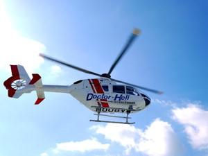 ドクターヘリ離着陸場がキャンパス内に誕生 運用開始に先立ち、県立医大と那賀消防組合との合同訓練を実施