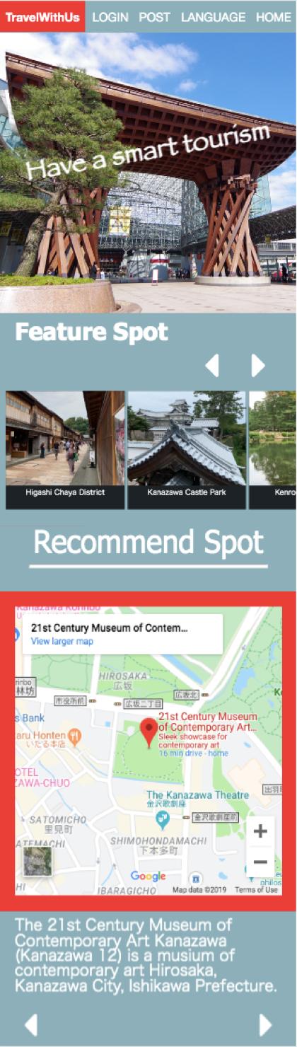 外国人観光客の四季折々の生きたレビューでリピーター増を目指す。Bus StopプロジェクトがAIによるWEB版観光マップを開発。 -- 金沢工業大学