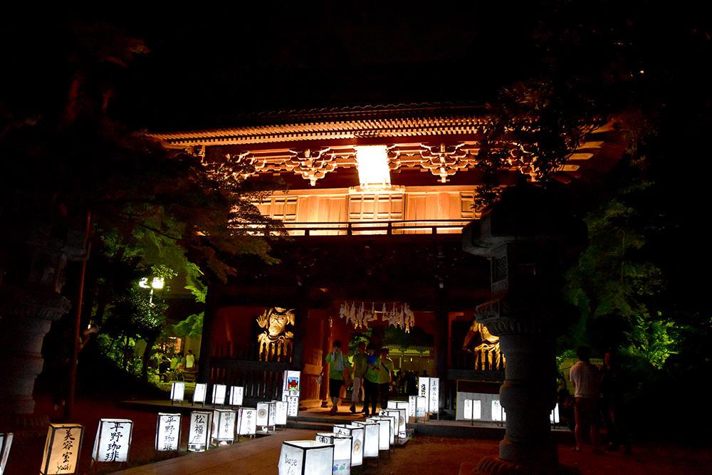 千葉商科大学 「真間あんどん祭り」で地域をより元気に -- 巨大行灯もミニ行灯も。計450個の行灯がお寺・商店街・駅を照らす