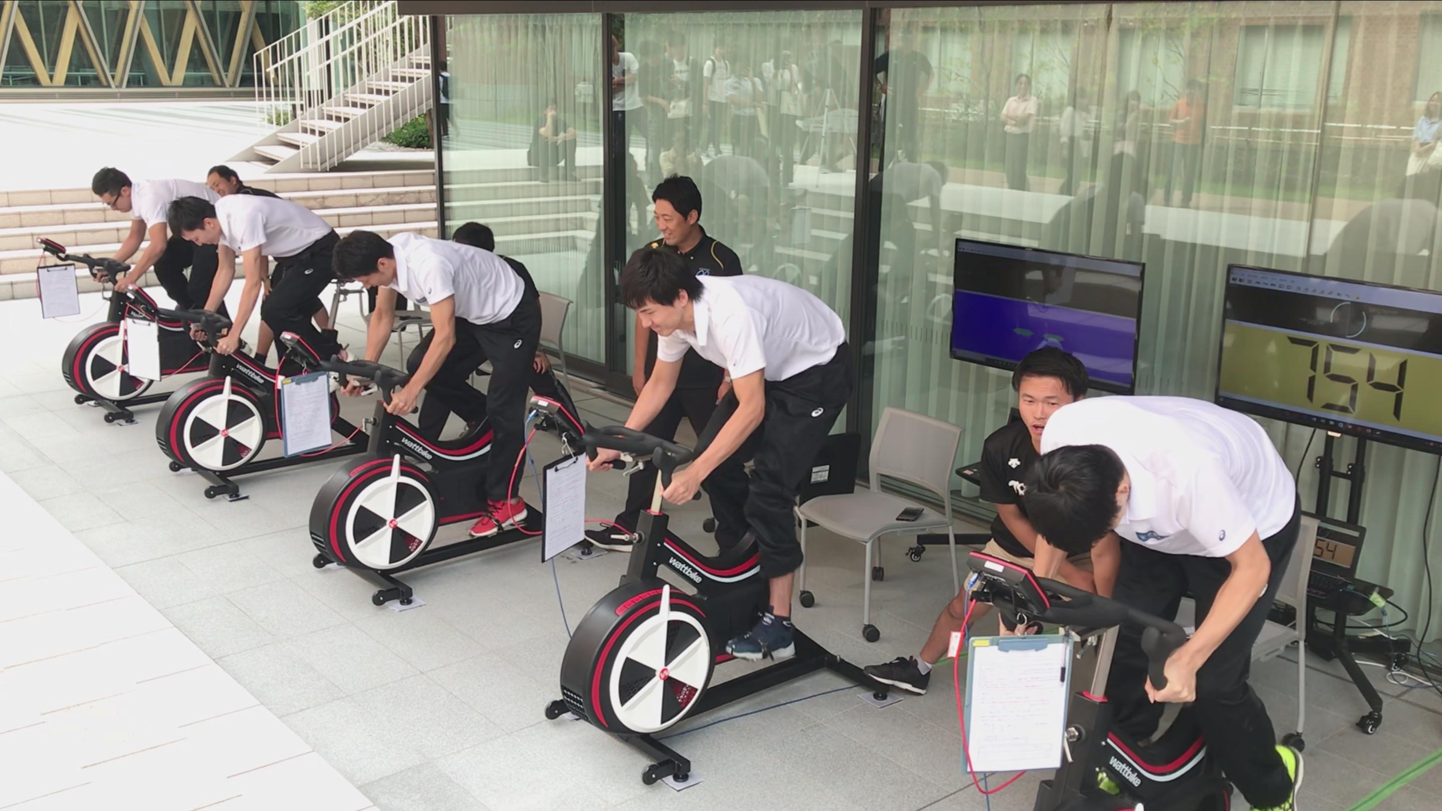 ペダリングパワーチャレンジin近畿大学 開催   近大最強の自転車スプリンターは誰だ!