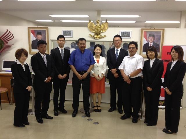 大阪国際大学の学生が、日本・ASEAN友好40周年事業<br />「胃袋でつなぐインドネシアと日本」でインドネシアの大学生と文化交流