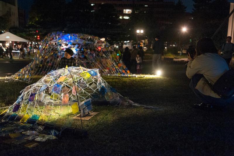 「金澤月見光路2018」 開催。金沢工業大学月見光路プロジェクトが手づくりのあかりのオブジェで城下町・金沢の夜を彩ります。