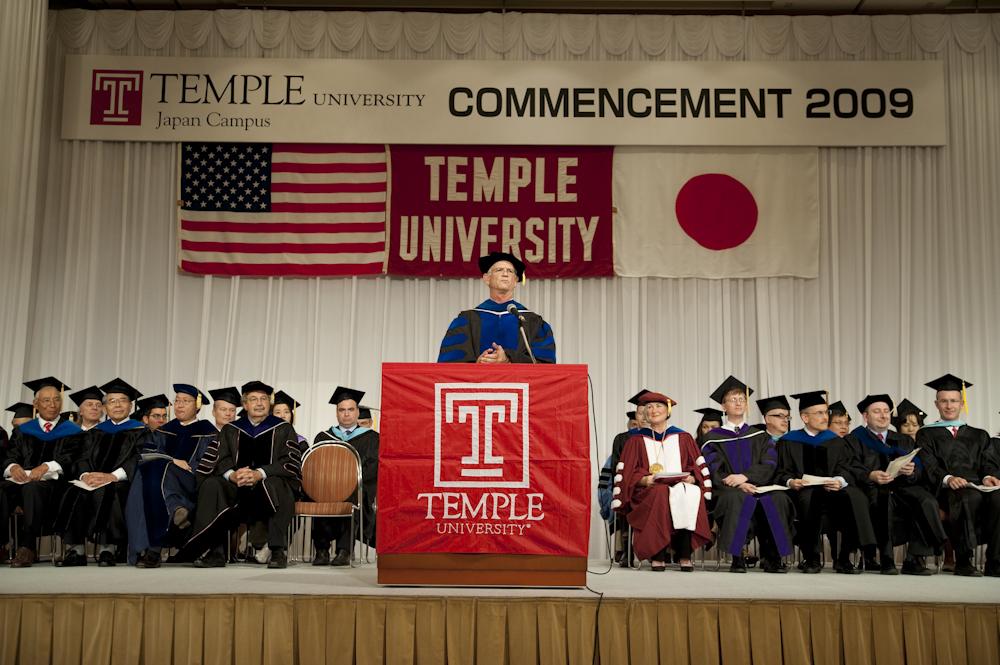 テンプル大学ジャパンキャンパス2009年度卒業式、昨年比1.5倍の学士が誕生