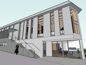 神奈川大学横浜キャンパス国際センター(新棟)の工事が開始