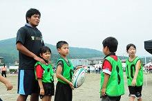 関東学院大学×安藤ハザマ スポーツを通じての被災地支援 宮城・気仙沼で400人が参加するタグラグビー大会などを実施 2011年以来、5年連続の取り組み