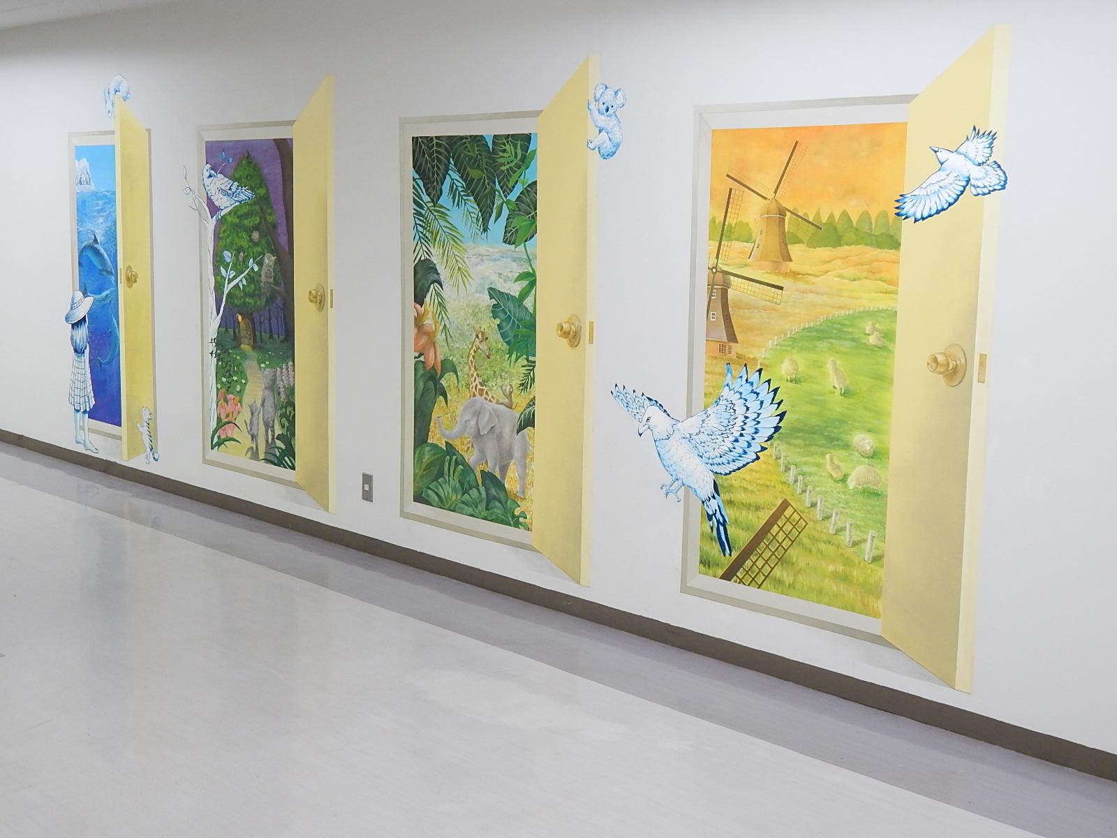 中高生が病院に壁画を制作 -- 昭和大学藤が丘病院・藤が丘リハビリテーション病院