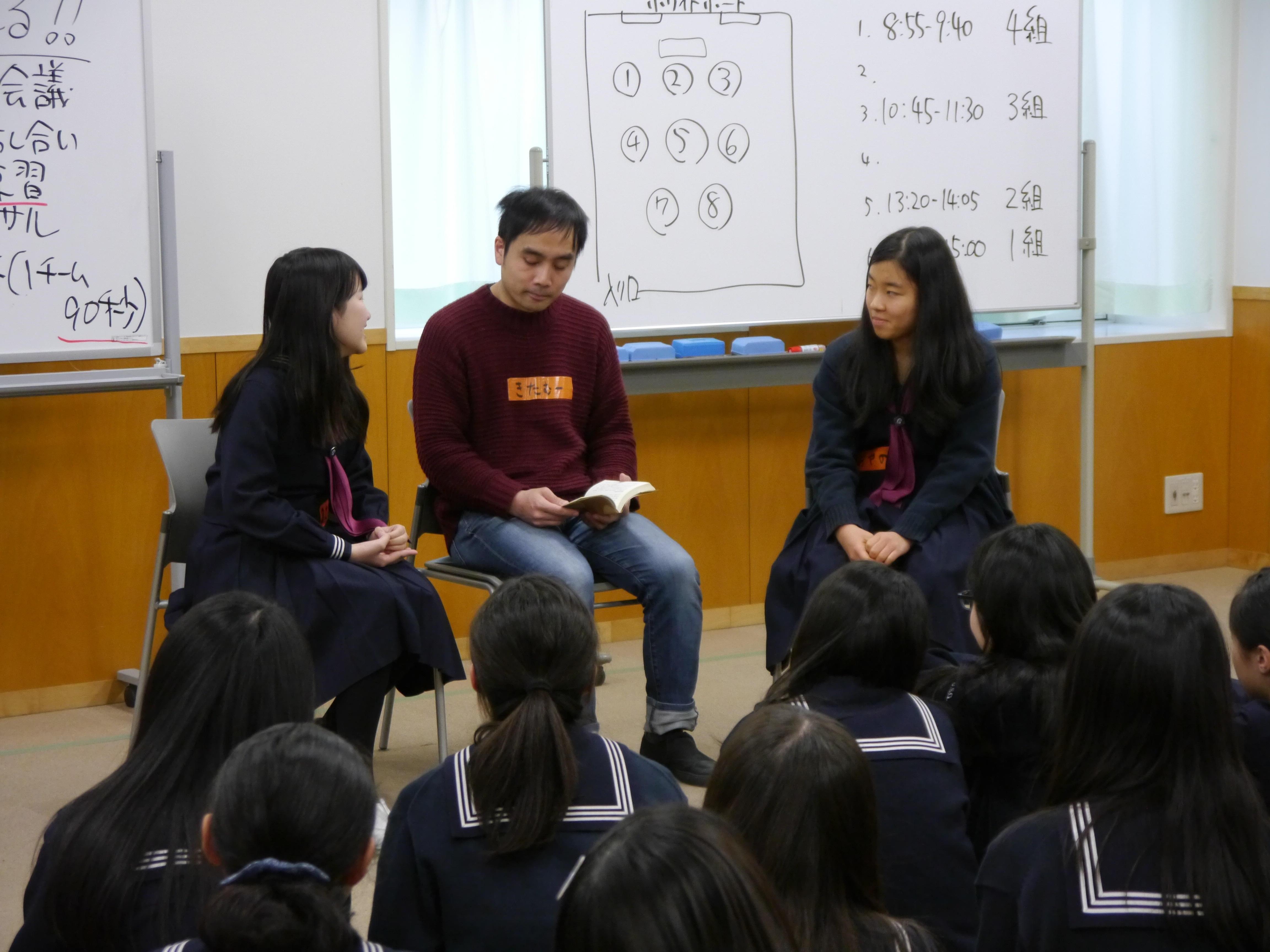 「イスから立たせよ!」 -- 女子聖学院中学校が国語の授業で「演劇ワークショップ」を実施~異なる価値観を持った人の説得を通して、生徒の表現力や思考力を鍛える