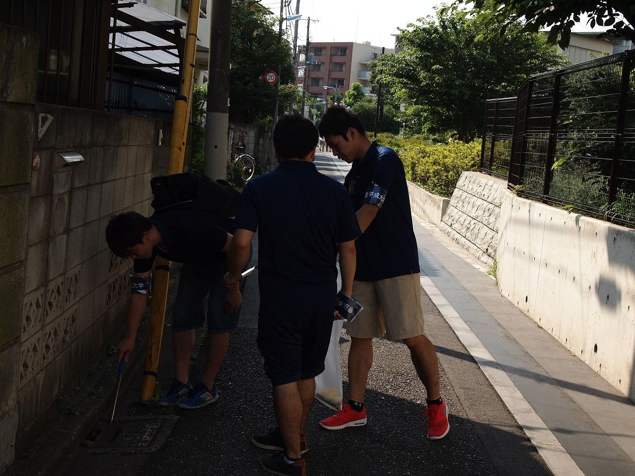 帝京平成大学が今年最後の「清掃ボランティア」を実施 -- 12月9日、中野キャンパス周辺
