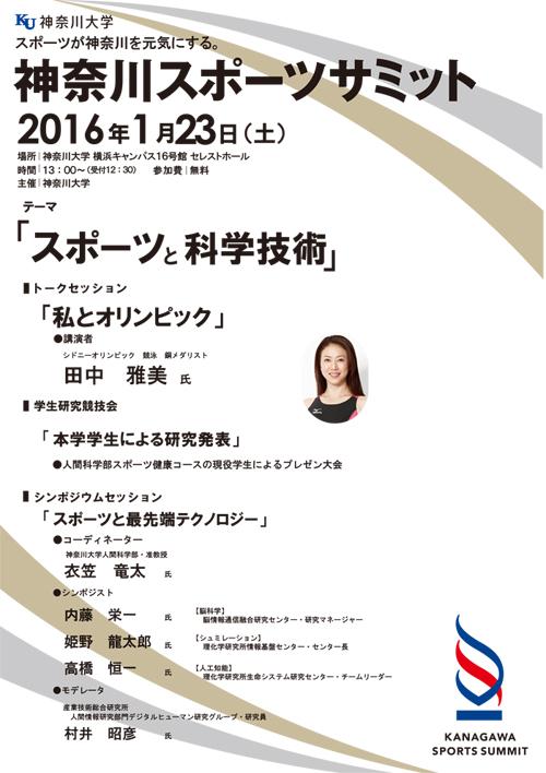 1月23日に神奈川大学横浜キャンパスにおいて『神奈川スポーツサミット』が開催