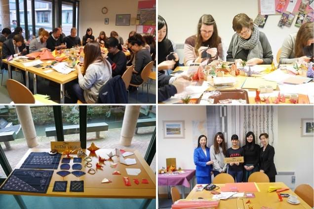 大妻女子大学が英オックスフォード大学ハートフォードカレッジ「コタカルーム」で手工芸ワークショップを開催