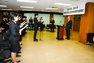 昭和大学が医学部・歯学部・薬学部特別奨学生採用式を実施