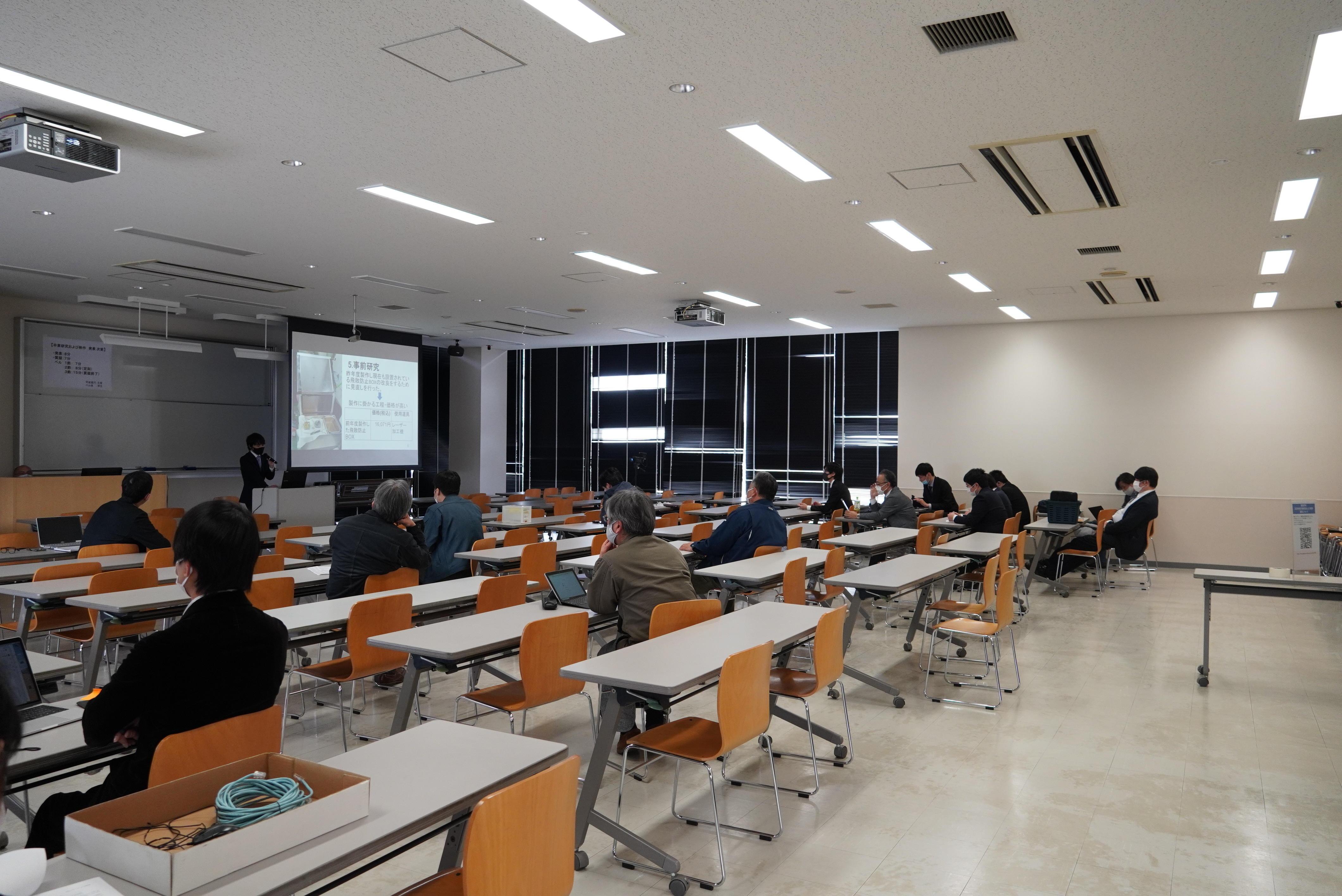 ものつくり大学では、1月26日(火)・27日(水)・28日(木)に必修科目である「卒業研究および制作」発表会を開催した。制作物はキャンパス内に展示中。