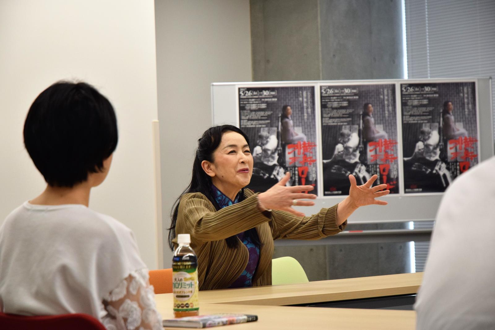 女優・五大路子さんと、関東学院大学の学生が 舞台「横浜ローザ」を通じて「戦争」や「平和」について考察します。 -- 5月10日(金)横浜・金沢八景キャンパス