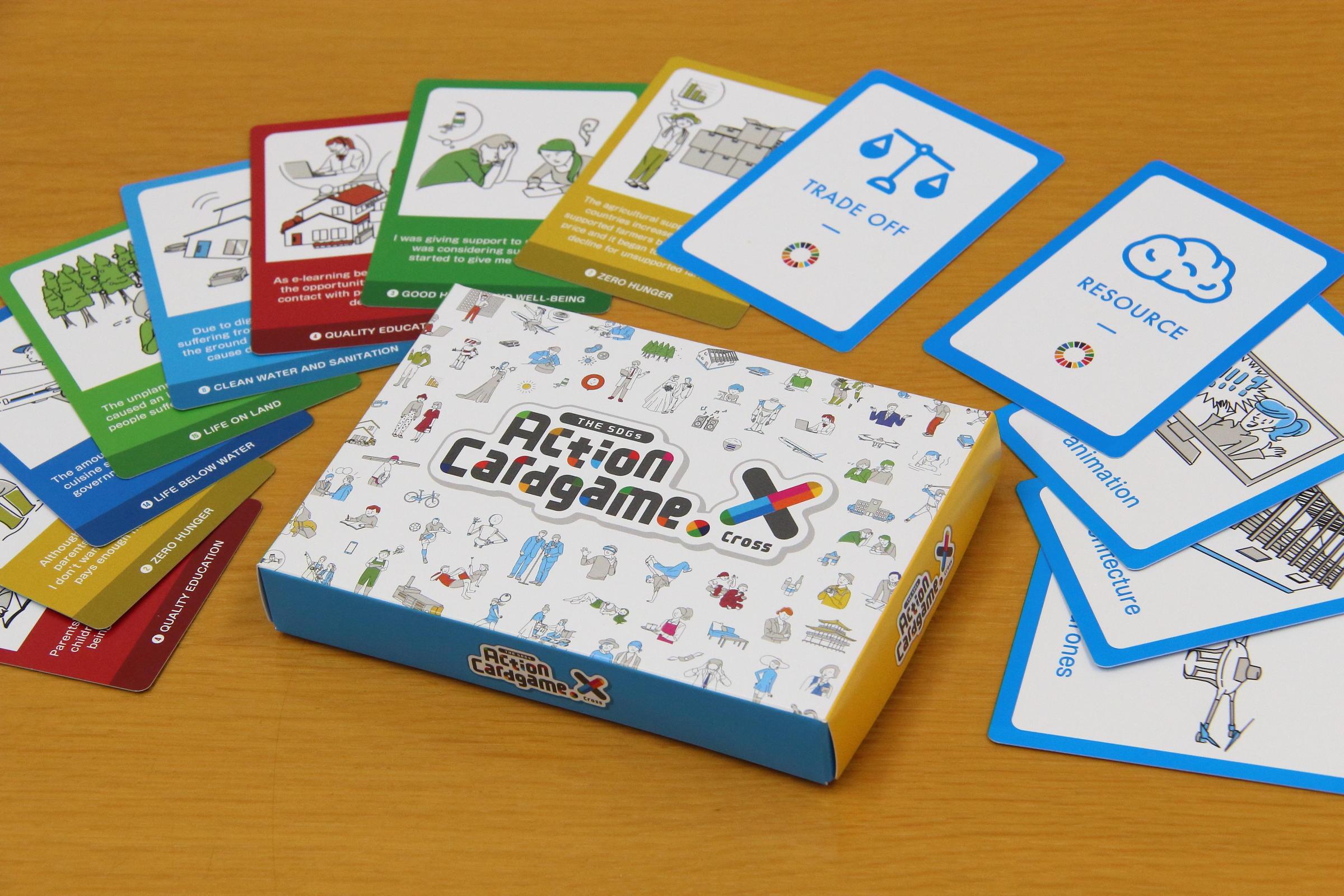 英語で楽しくSDGsを学び、行動に移す!金沢工業大学の学生プロジェクトと株式会社リバースプロジェクトが共同開発。英語版SDGsカードゲーム THE SDGs Action cardgame