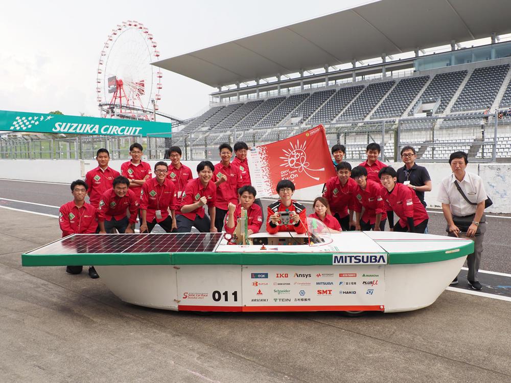 大阪電気通信大学 自由工房Solar Team Ku-Onの学生チームがソーラーカーレース鈴鹿2021に出場 -- 初出場の学生チーム・初設計の車体・初運転のドライバーで見事完走!