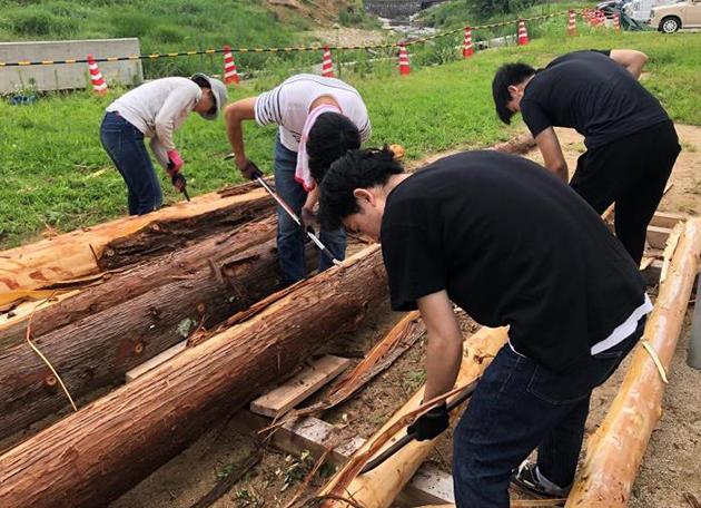 平成30年7月の豪雨から1年 被災した福富町に復興シンボルを制作