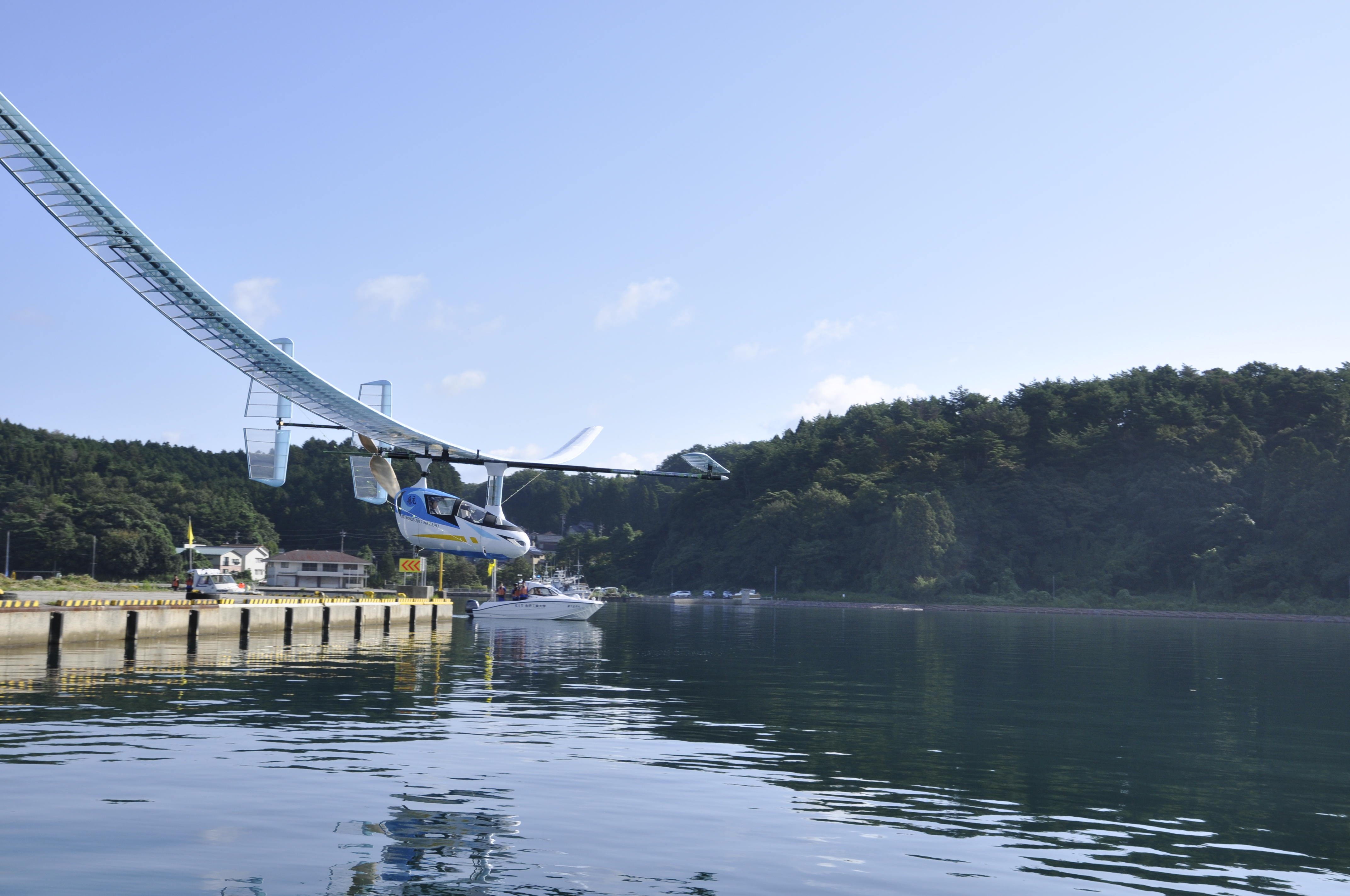 夢考房人力飛行機プロジェクトが穴水湾での飛行に挑戦。令和元年8月6日(火)から8月9日(金)までの期間のいずれか1日で実施