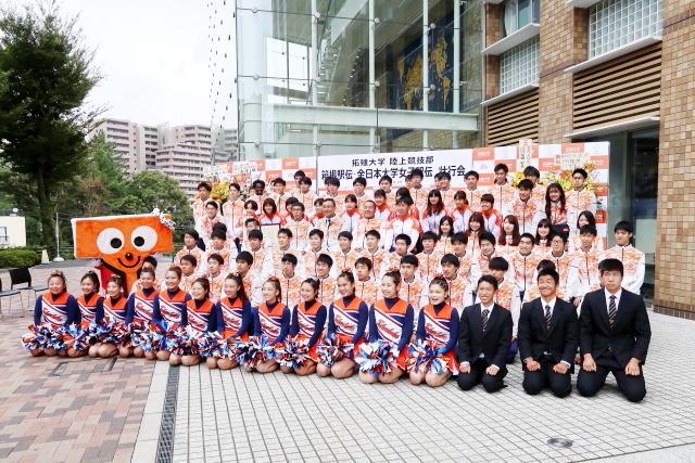拓殖大学陸上競技部が箱根駅伝及び全日本大学女子駅伝壮行会を開催-初の留学生キャプテン・デレセ選手が決意表明-