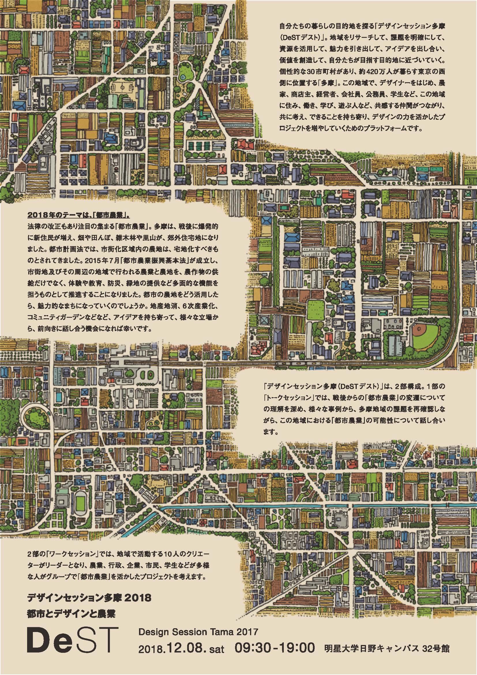 明星大学デザイン学部が「デザインセッション多摩(DeSTデスト)」を開催。~テーマは「都市とデザインと農業」。多摩地域におけるデザインの可能性を考察~