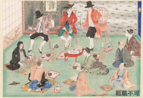 本年オランダで発見された「長崎屋宴会図」を初公開 2019年11月1日~14日、神田外語大学附属図書館企画展にて