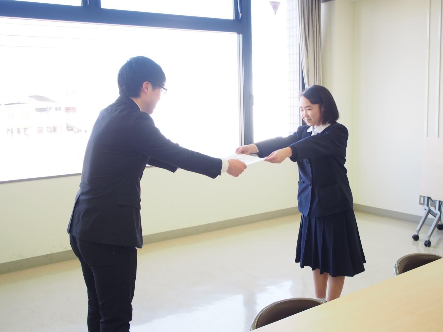 ~学生による東日本大震災復興支援活動~読書感想文の入選者を表彰