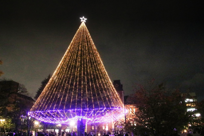 同志社大学今出川・京田辺両キャンパスでクリスマスツリー・イルミネーション点灯