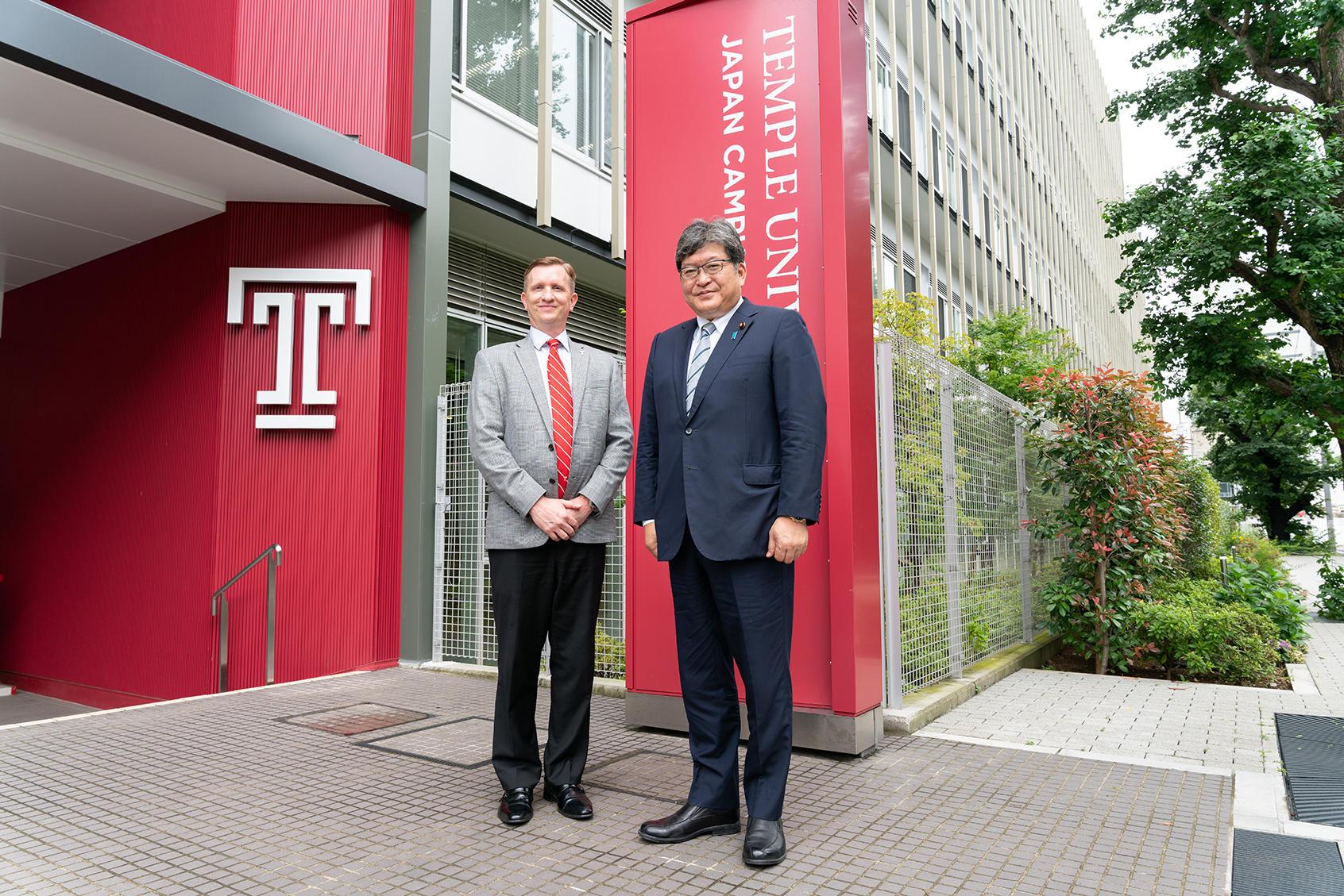 萩生田文部科学大臣がテンプル大学ジャパンキャンパスを訪問
