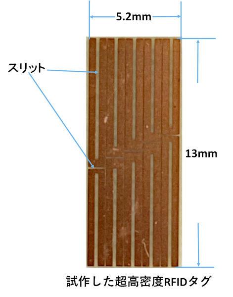 青山学院大学環境電磁工学研究所が超高密度化RFIDタグの試作に成功