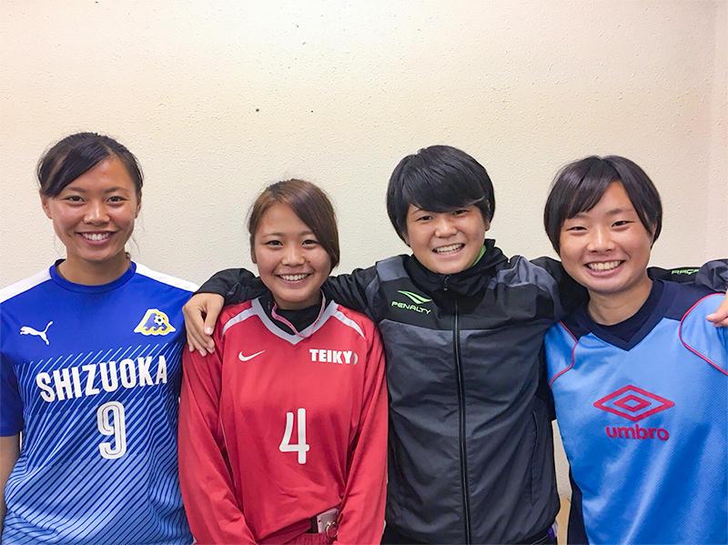 帝京平成大学の女子サッカー部員4名が「福井しあわせ元気国体2018」の選手として選出